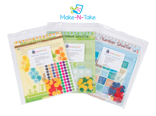 Make-N-Take leveled game packets