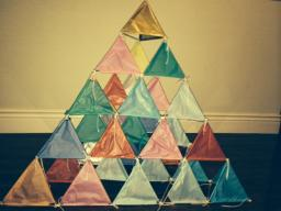 tetrahedron kite template - collaborative projects